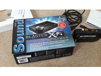 Creative Soundblaster X-Fi External Sound card