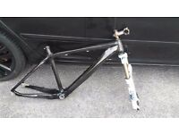 On One 456 Carbon MTB Frame and Fork