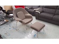 Brand New Womb Chair Grey Cashmere Fabric Can Deliver View Collect Kirkby NG177