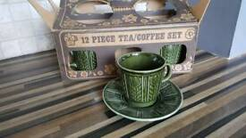 Retro cup and saucer set