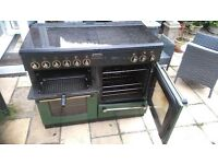 Rangemaster 110 doble oven (electric) gas hobs - green and black
