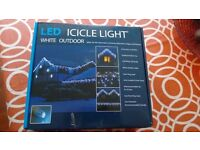 Outdoor LED Icicle lights x 2
