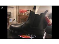 Size 6 steel toe cap boots unisex