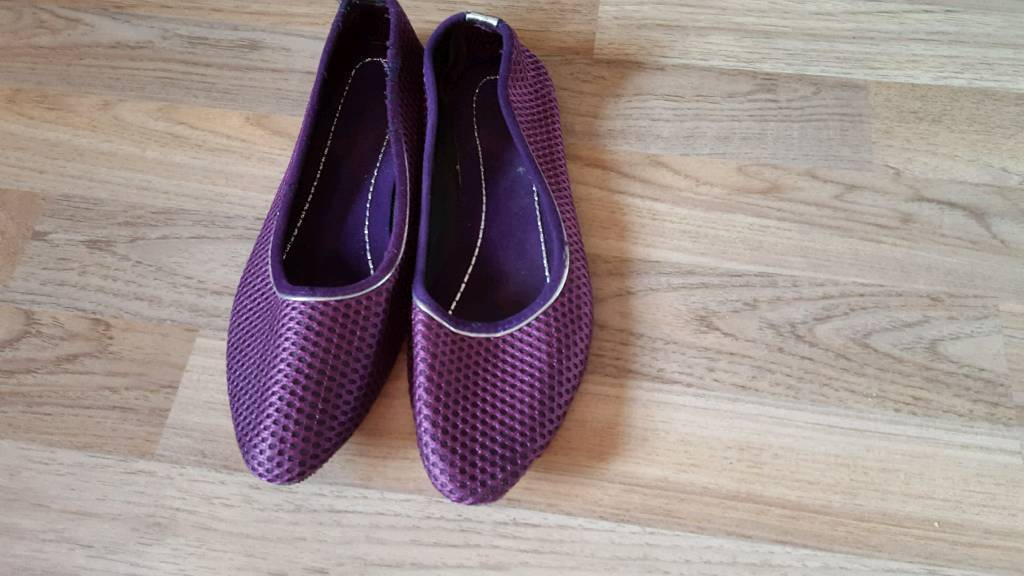 Beautiful purple shoe