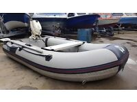 2.75 yamaha rubber boat with v hull with 4hp evinrude