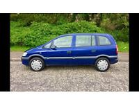 DIESEL Vauxhall Zafira DTI, 7 SEATER, One Years MOT. IMMACULATE & Well Serviced
