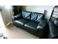 Leather Double sofa and a chair