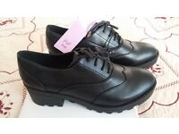 Brand new Girl Smart school shoes size 6 black retail £15, selling for £10, from Forest Gate