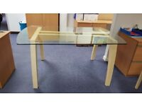 DINING TABLE & CHAIRS + SIDEBOARD CABINET MATCHING, CAN SELL SEPARATELY