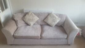 Mink sofas 2 and 3 seaters - like new