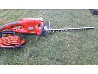 Flymo hedge trimmer with additional cable