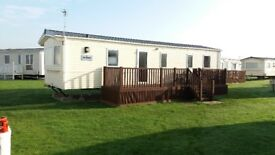 3 bed caravan with Vernada to hire, West Sands, Selsey. Great location and well equipped.