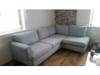 DFS 5 seat Light Grey corner sofa
