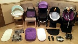 ** iCandy Apple 2 Pear Pushchair Pram Stroller Cybex Car Seat Rain Cover Cosi Toes Travel System **