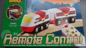 BRIO 33221 Wooden Railway System: Remote Control Engine Action Train - CAN POST