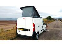 Stunning clean Fiat DOBLO CamperVan w elevating roof, side awning, dble bed, kitchen & all mod cons