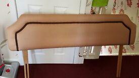 double size headboard. beige colour - velvet. good condition.