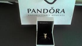 BRAND NEW GENUINE PANDORA FAIRY PIXIE SILVER & 14CT GOLD CHARM COMES WITH PANDORA CHARM BOX AND BAG