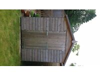 Unused, perfect condition 8'x6' shiplap wooden garden shed.