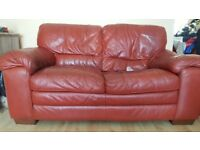 World of Leather Carolina 3 Seater + 2 Seater Leather Sofas and Footstool cost over £2250