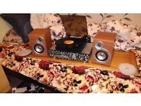 Turntable stereo full setup