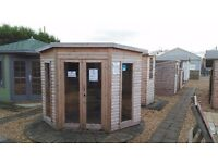 Various ex display sheds and summerhouses