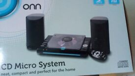 Brand new cd stereo system with lcd display
