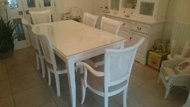 White Dining Room Table & Chairs