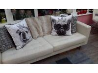3 seater sofa from ikia in cream