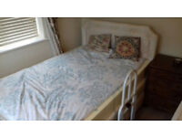 Oak Tree Mobility 5 star Deluxe adjustable double bed (single occupant) with a grab rail.