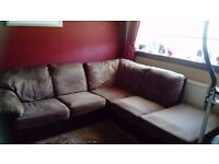 Corner sofa and arm chair. Very good condition