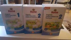 8x Organic Goat Milk Formula 1 , 6x Holle Org Infant Follow O , 4x Holle Org goat milk nutri