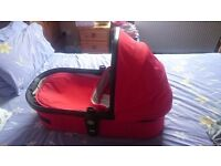 Joolz high quality red Moses basket (from very expensive pram)