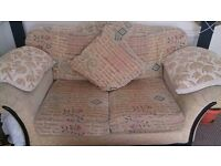 2 seater settee and a puff with strorage