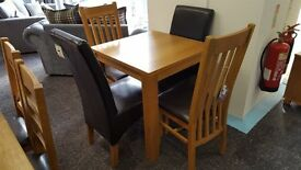 Modern Oak Table and Chairs