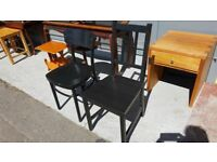 2 Individual Vintage Black Chairs £10 Each