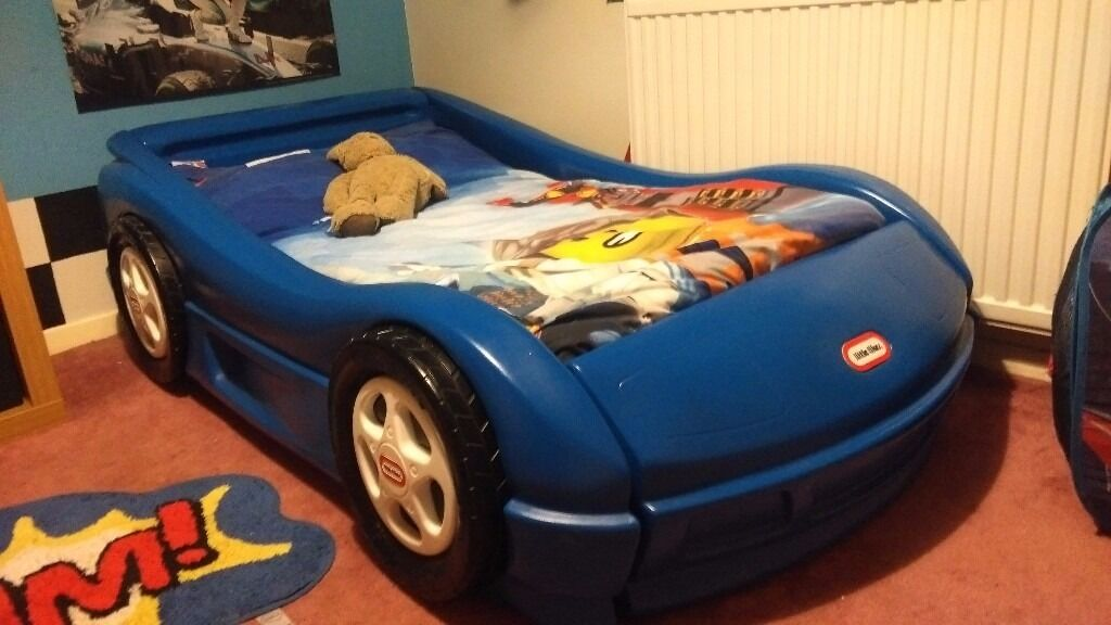 Little Tikes Roadster Toddler Bed - Blue Car