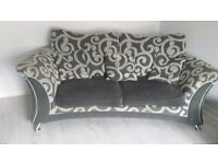 2x2 seater sofas and footstool