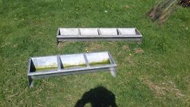 Animal food and water troughs