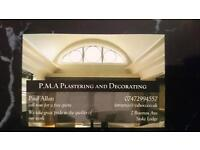 P.M.A Plastering and Decorating