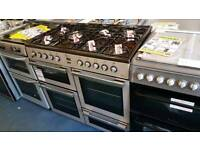 FLAVELMLN10FRS Dual Fuel Range Cooker - Silver & Chrome £499.99