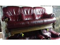 leather ox blood 3x2x1x suite italian style.