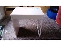 IKEA MICKE White Desk Already put together! Very Good Condition
