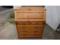 Pine desk bureau in good condition for more details please phone 07766574894