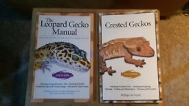 Leopard gecko & Crested gecko care books