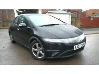 Honda Civic 2.2 Diesel 2007 Black *FSH* Leather / Heated Seats