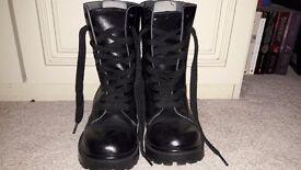 Black Cadet Boots, Size 5