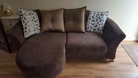 3 seater cornet sofa with chair 5 months old