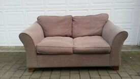 2 x Taupe fabric 2-seater Marks & Spencer sofas, very good condition