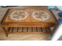 Antique art nouveau coffee table few marks nothing major. Length 96cm width 48 cm height 40cm